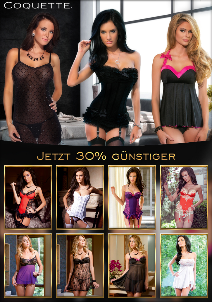 30 % Rabatt auf Dessous von Coquett bei Sineros