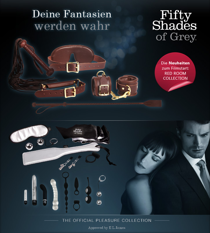 Fifty Shades of Grey Red Room Collection bei SinEros