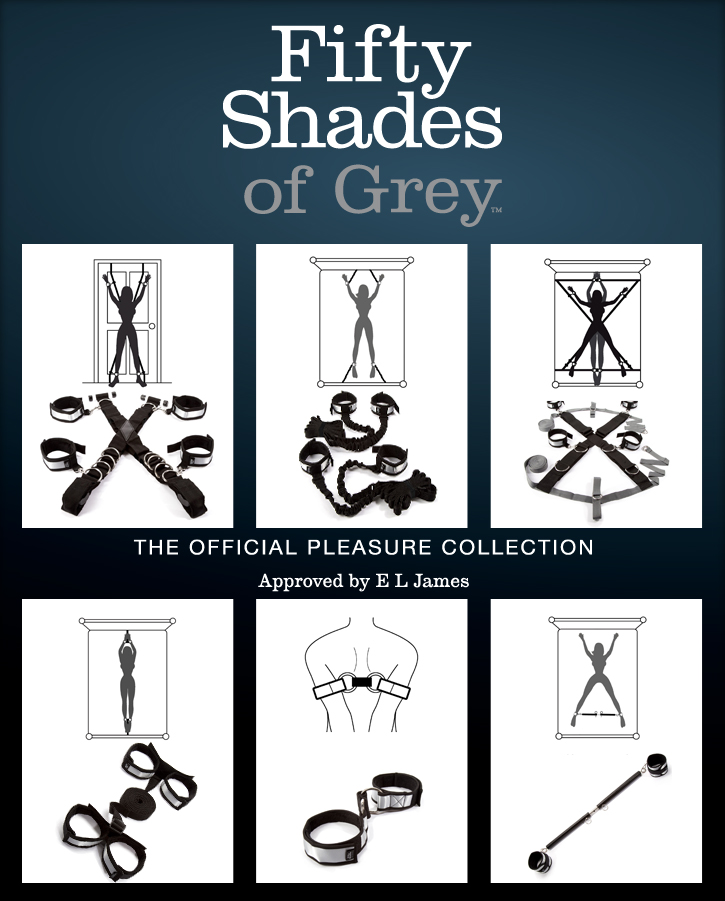 "Fesselsets aus der offiziellen ""Fifty Shades of Grey"" Kollektion"