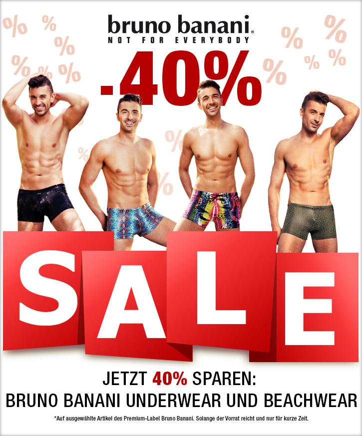 Super Sale mit Underwear von Bruno Banani bei SinEros.de