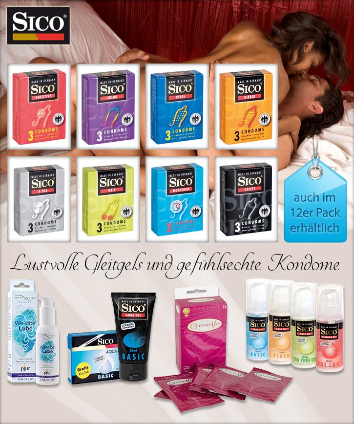 Kondome und Gleitgels bei SinEros.de