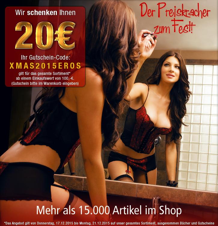 Der Preiskracher zum Fest: 20 Euro Rabatt ab 100 Euro Warenwert