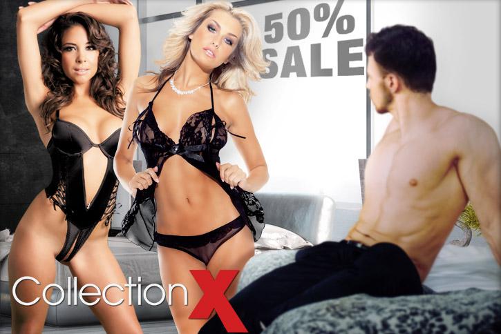 50 Prozent Rabatt auf Dessous von Collection X